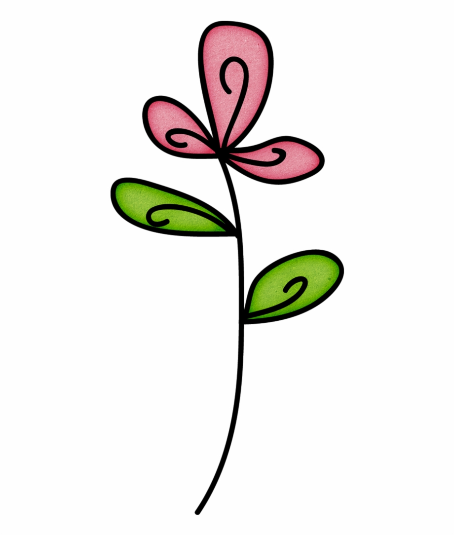 920x1084 Doodle Flower Png Pack, Minimalist Drawing, Bujo Doodles, Free Png