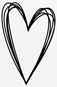 190x287 Heart Scribble Doodle Drawing Love Mouse Pad Spreadshirt