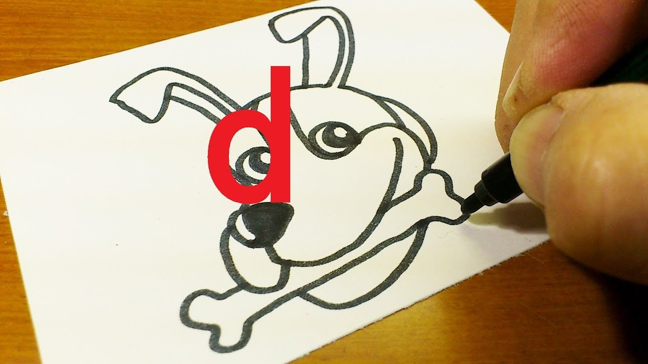 1280x720 How To Turn Letter D Into A Cartoon Dog For Kids