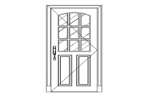 650x400 Flush Panelled Type Of Door Dwg