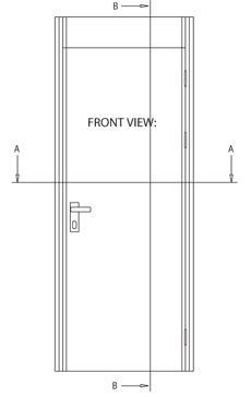 230x364 Msmc Acoustic Type Door