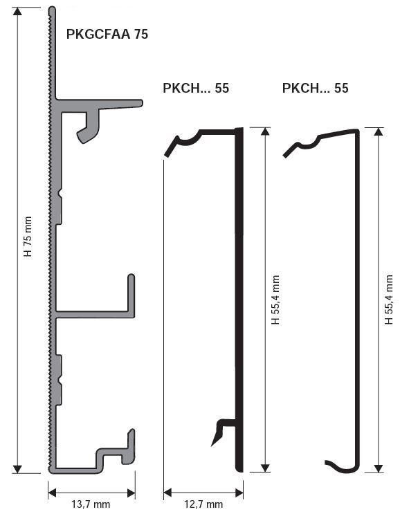 578x756 Aluminium Skirting Board Proskirting Channel