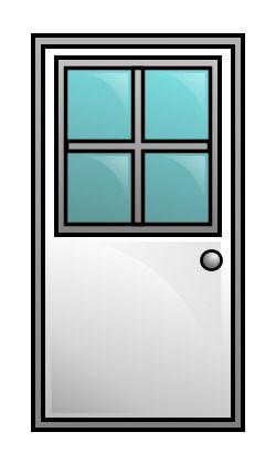 250x418 Drawing A Cartoon Door Objects