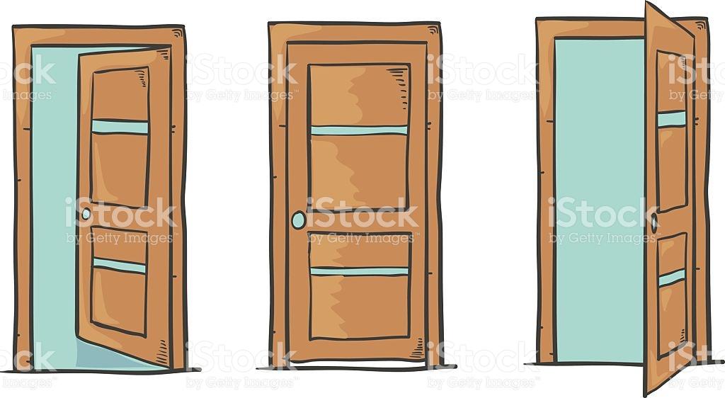 1024x562 Interesting Closed Door Drawing And Drawings Of Open Door