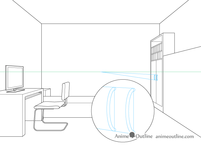 675x488 One Point Perspective Room Drawing Tutorial