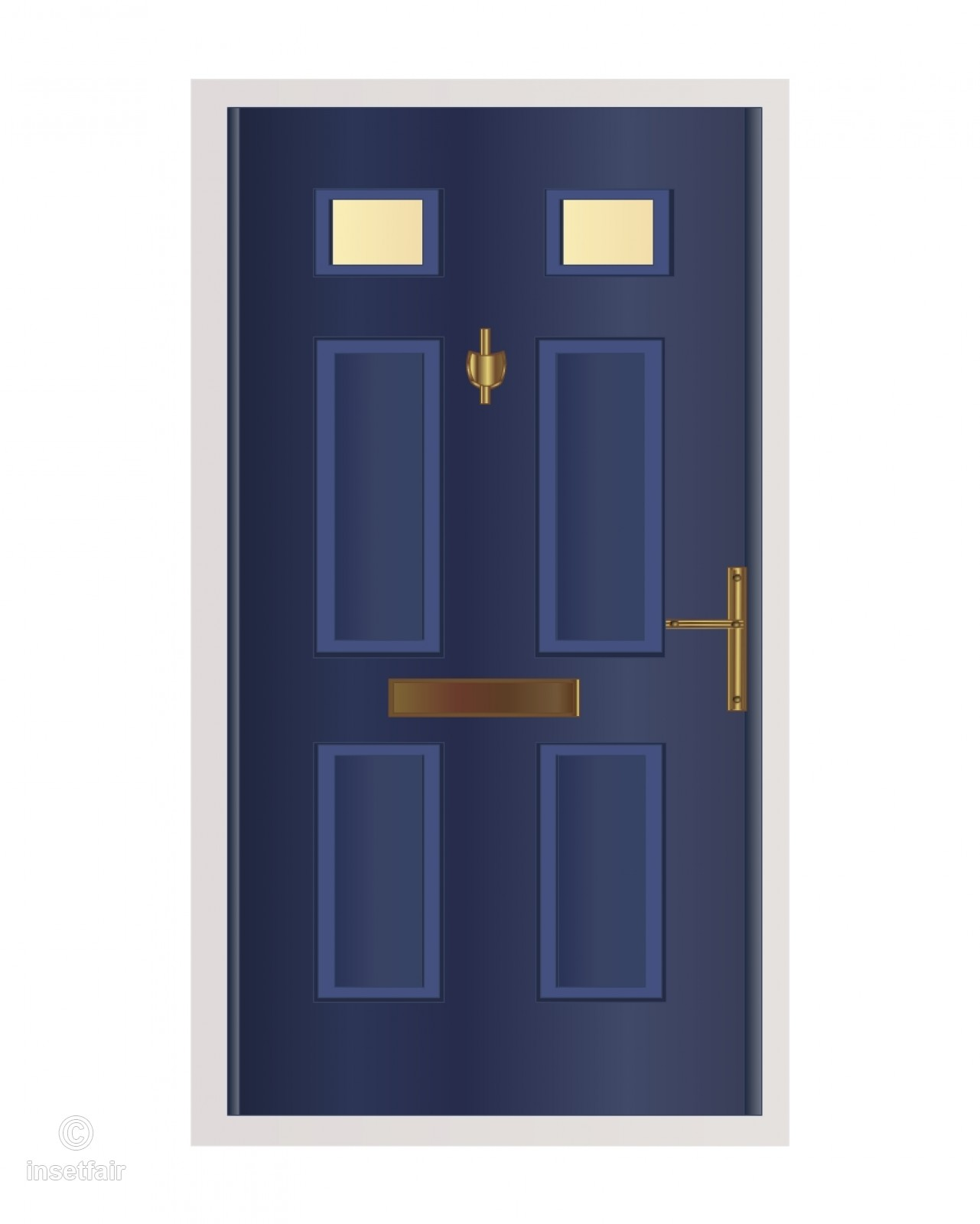 1281x1600 Pvc Blue Door Vector Cartoon Drawing