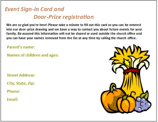 528x408 Fall Event Registration Cards To Make Sure People Come Back