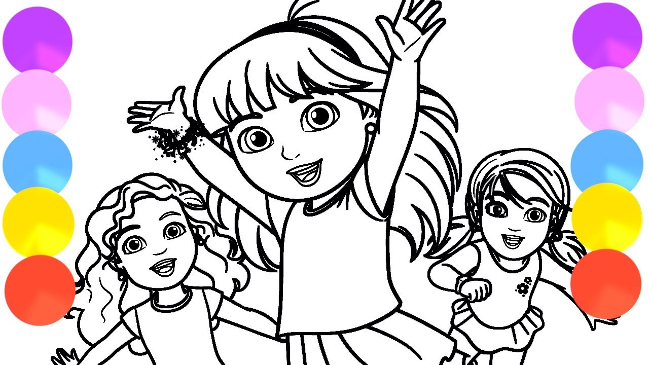 1280x720 Dora And Friends Coloring Pages For Kids Song For Kids Learn