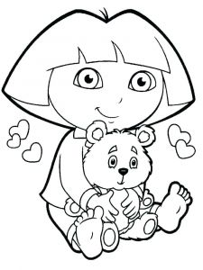 225x300 Free Coloring Pages Of Friendship New Dora Coloring Pages Pdf