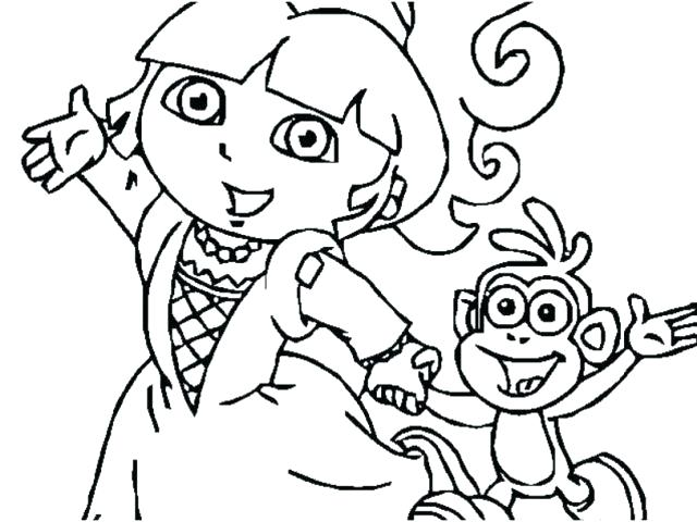 640x480 Coloring Pages Dora Free Coloring Pages Dora And Friends Kyudojo