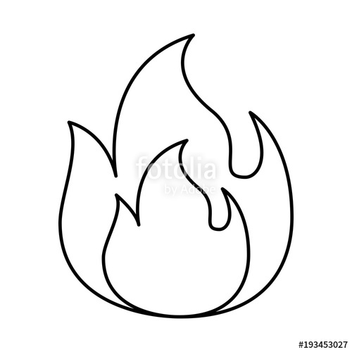 500x500 Fire Flame Burning Danger Hot Image Vector Illustration Dotted