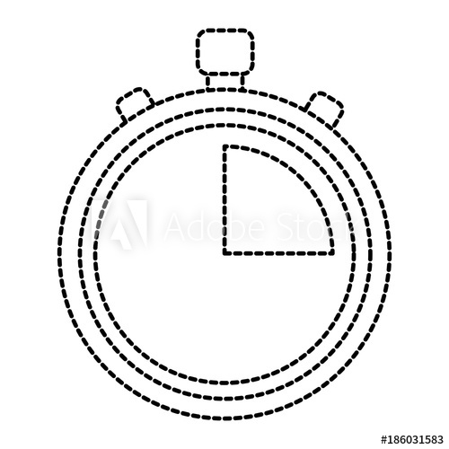 500x500 Stopwatch Or Chronometer Time Icon Image Vector Illustration
