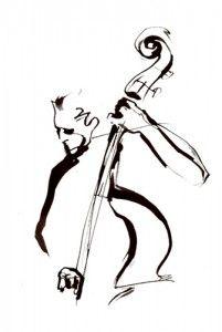 201x300 pics for gt jazz drawing music jazz malerei, schwarz