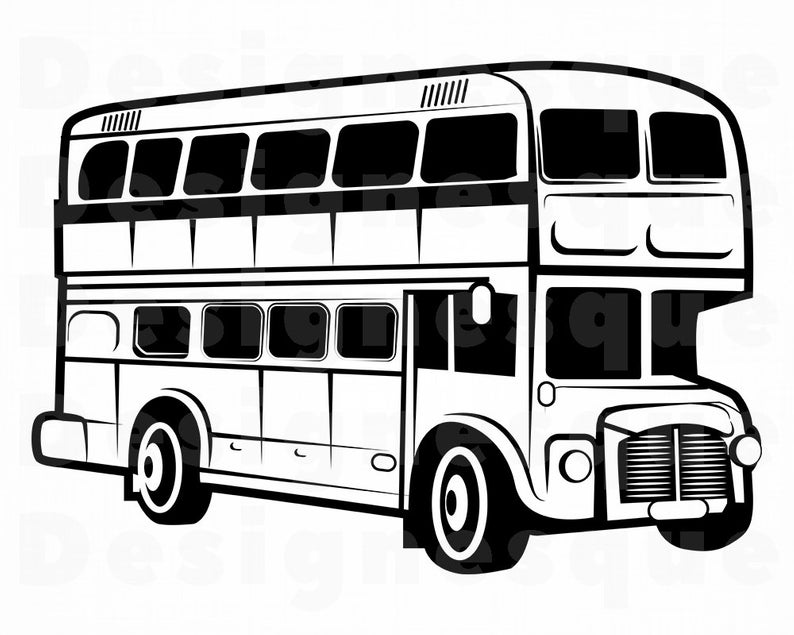794x635 double decker bus bus bus clipart bus for etsy