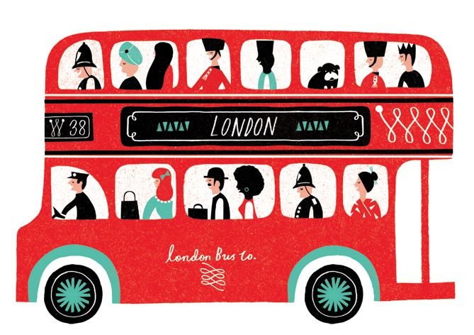 669x472 london bus in double decker bus! london illustration