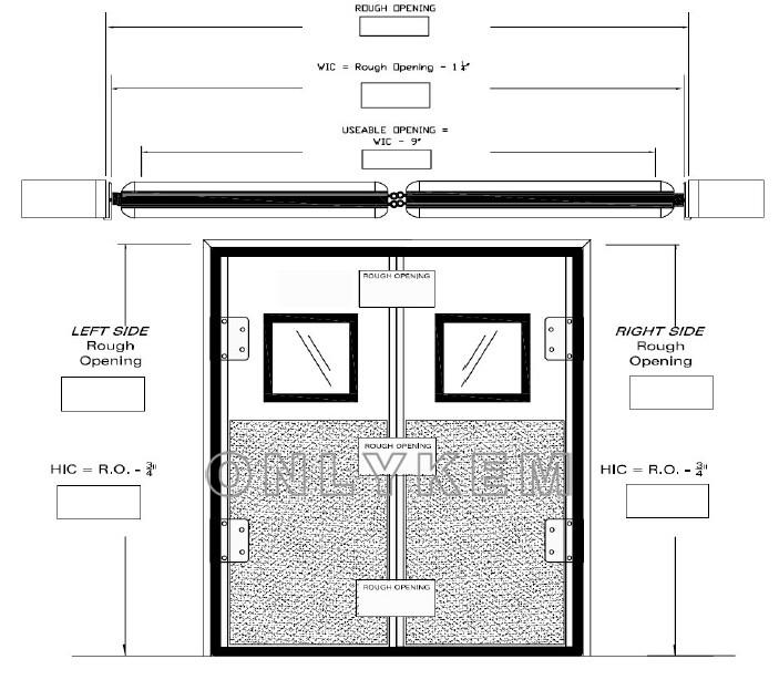 703x614 single swing door and double swing door for cold room
