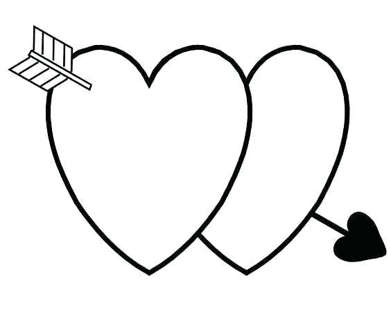 Double Heart Drawing | Free download best Double Heart ...