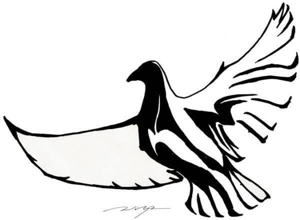 600x440 Dove Tattoo Designs