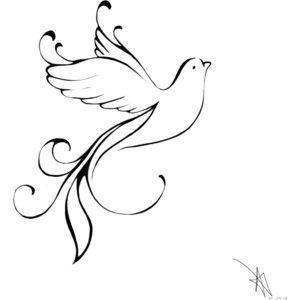 300x300 Dove Tattoos With Background Ideas And Designs