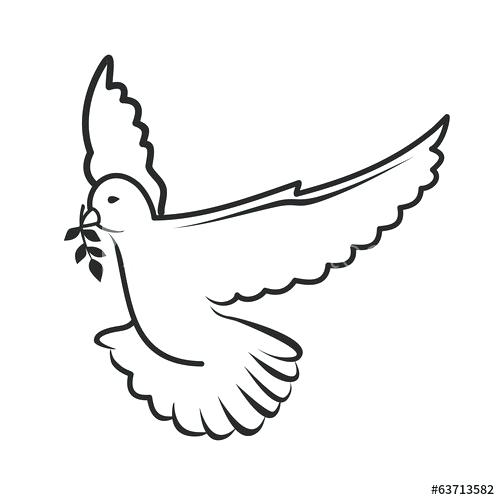 500x500 outline of a dove dove of peace outline dove tattoo
