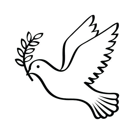 450x450 Outline Of A Dove