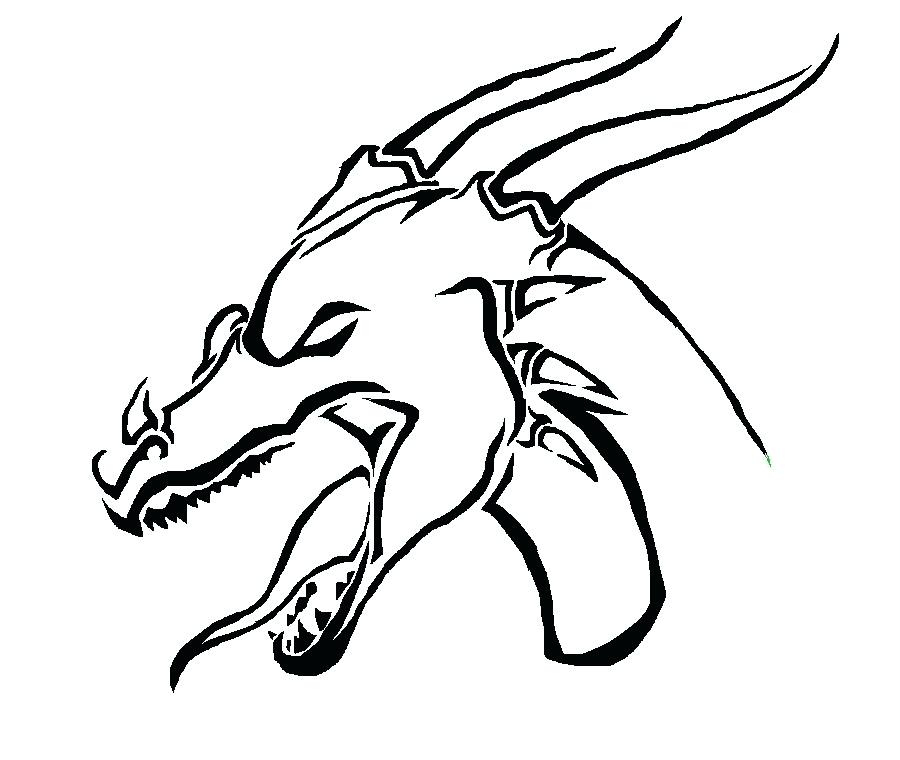 900x760 Drawing A Dragon Head