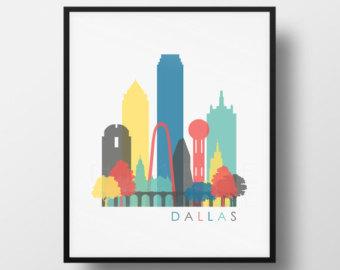 340x270 Dallas Skyline Etsy