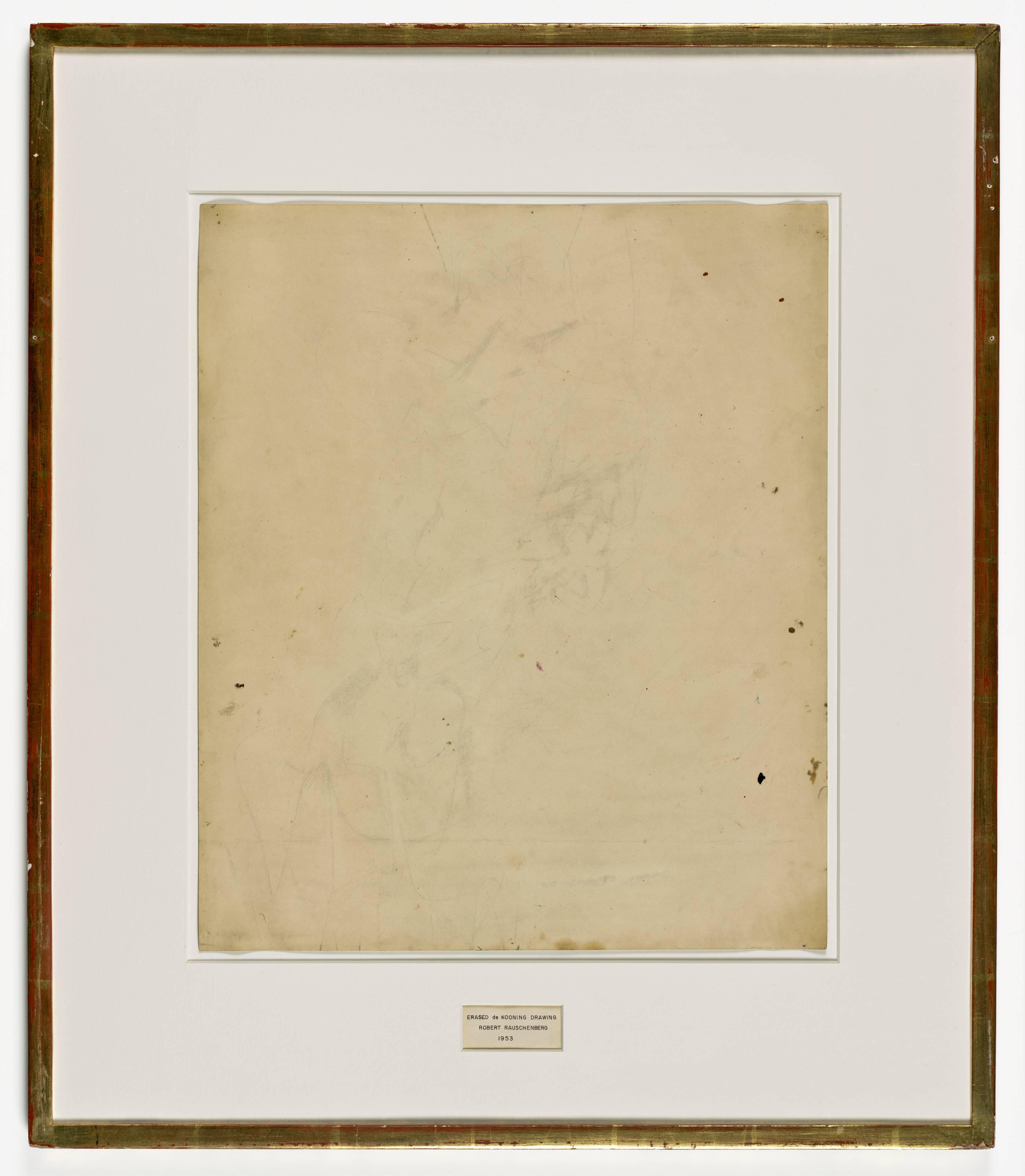 3488x4000 Erased De Kooning Drawing Sfmoma