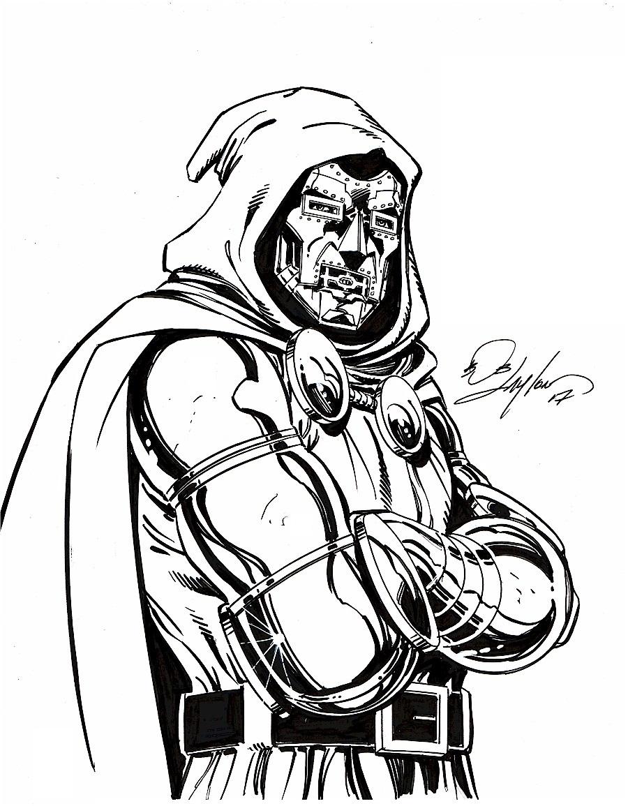 900x1155 Dr Doom X Sketch, In Bob Layton's Bob Layton Commissions