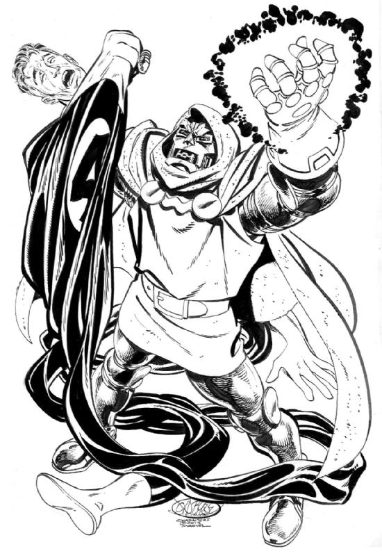 550x800 Dr Doom And Mr Fantastic, In Douglas Burgess's John Byrne