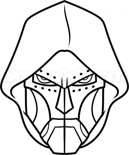 433x520 learn how to draw doctor doom easy, marvel characters, draw marvel