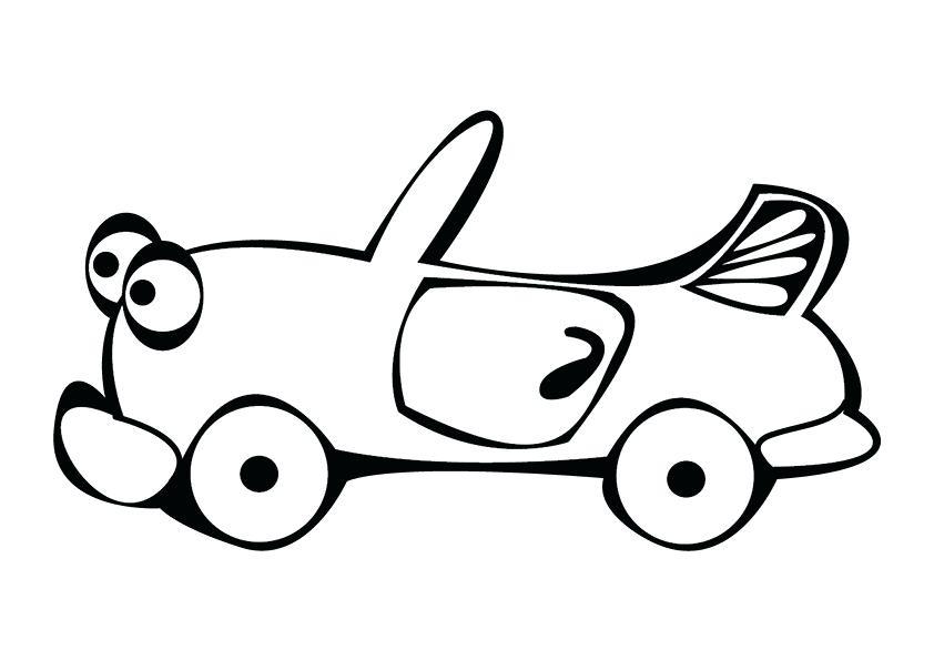 842x595 Cartoon Car Drawings