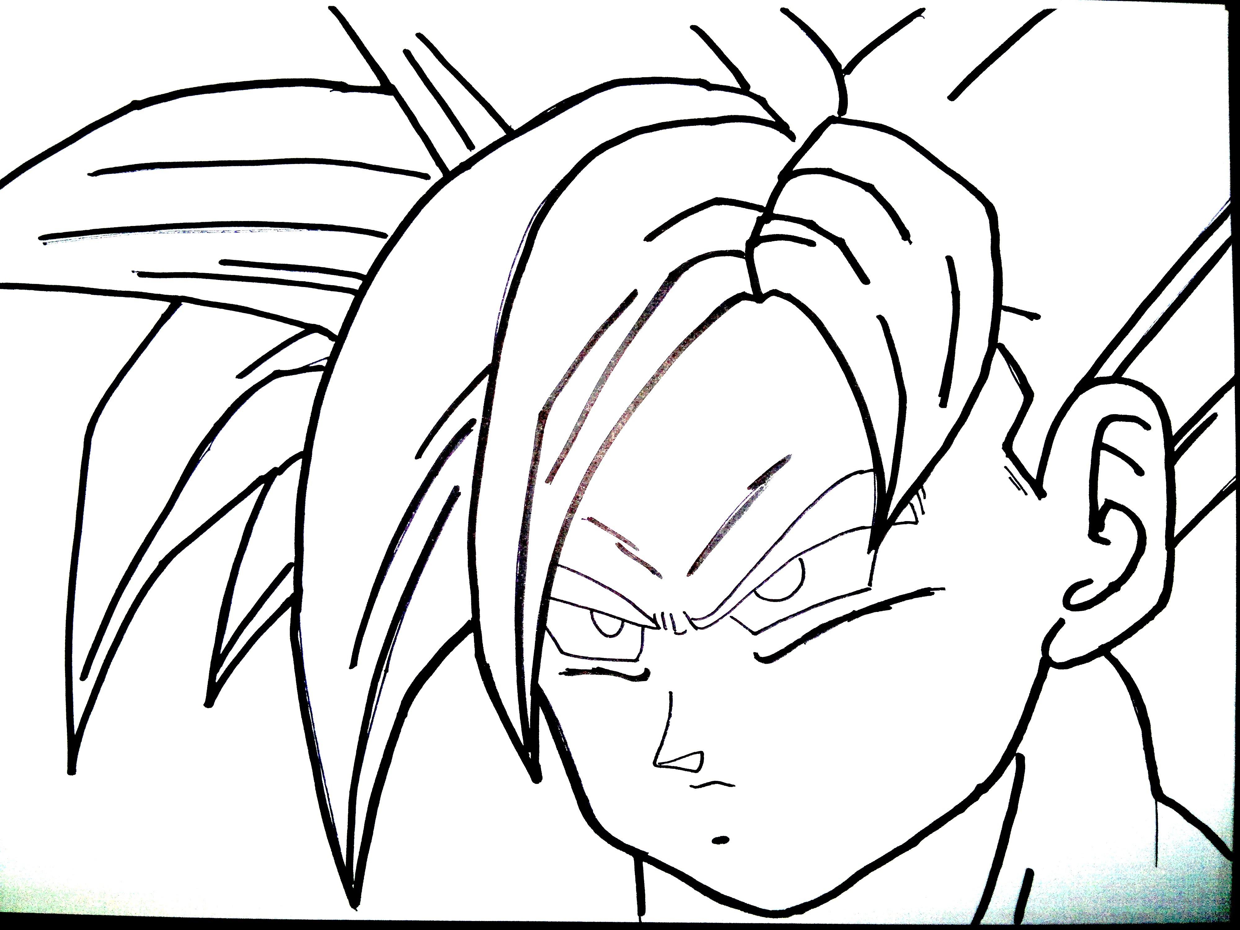 Dragon Ball Z Gohan Drawing