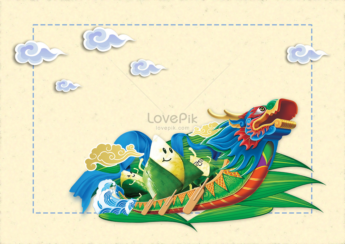 1200x850 The Use Of Background Materials For The Dragon Boat Festival Photo
