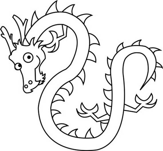 570x527 Chinese Dragon Boat Festival Coloring Pages