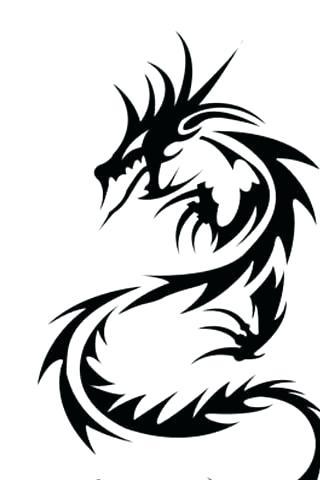 320x480 easy dragon best dragon tattoo easy drawing ideas dragon easy