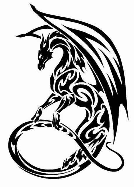 460x640 dragon tattoo stencils crafts tribal dragon tattoos, dragon
