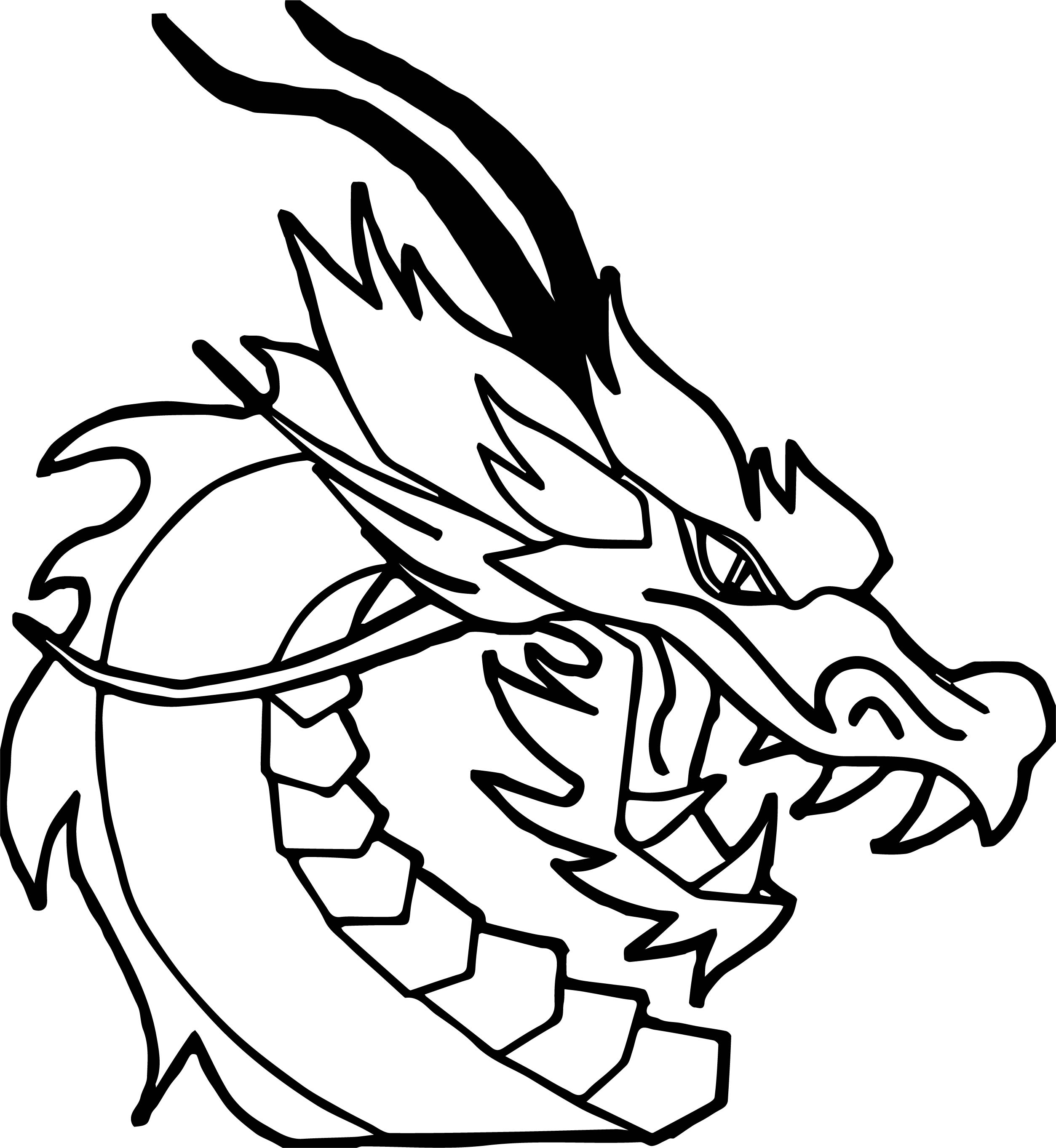 Dragon Face Drawing | Free download on ClipArtMag