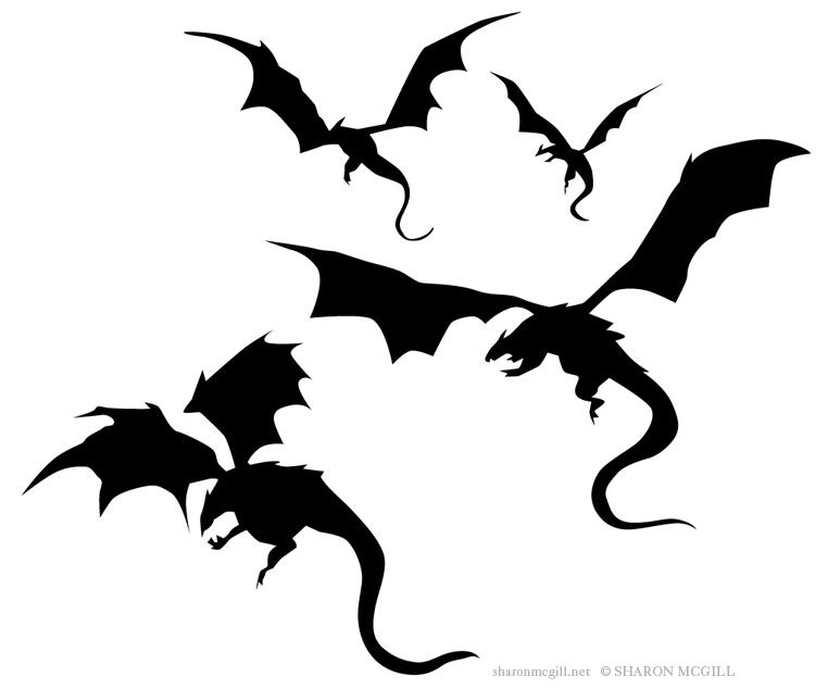 Dragon Flying Drawing
