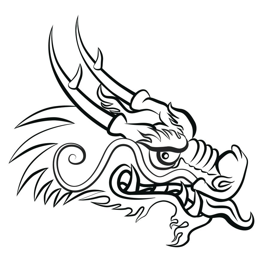 878x856 easy chinese dragon new easy to draw chinese dragon head