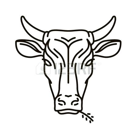 450x450 cow head drawing cow head deer head drawing easy nip