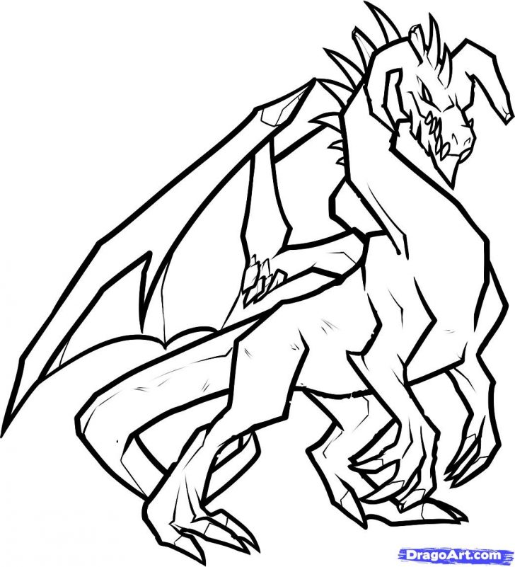 728x801 Dragon Dance Line Drawing Easy Pictures Welsh Komodo Ajedrezdeen
