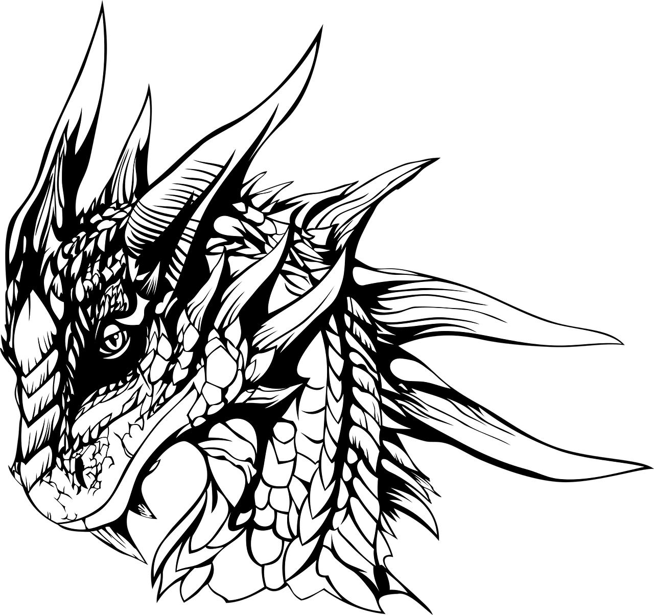 1280x1204 Rubble Drawing Dragon Huge Freebie! Download For Powerpoint