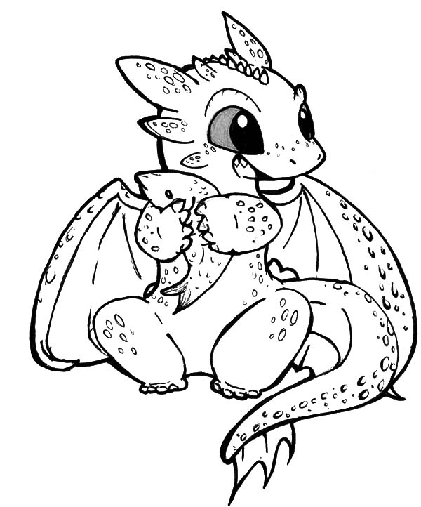 600x722 Free Dragon Coloring Pages Stunning How To Train A Dragon Coloring