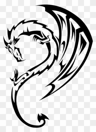 320x440 Tribal Dragon Drawing