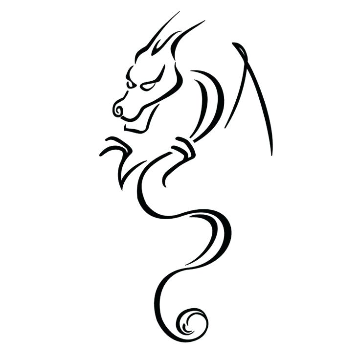 736x736 How To Draw A Small Dragon