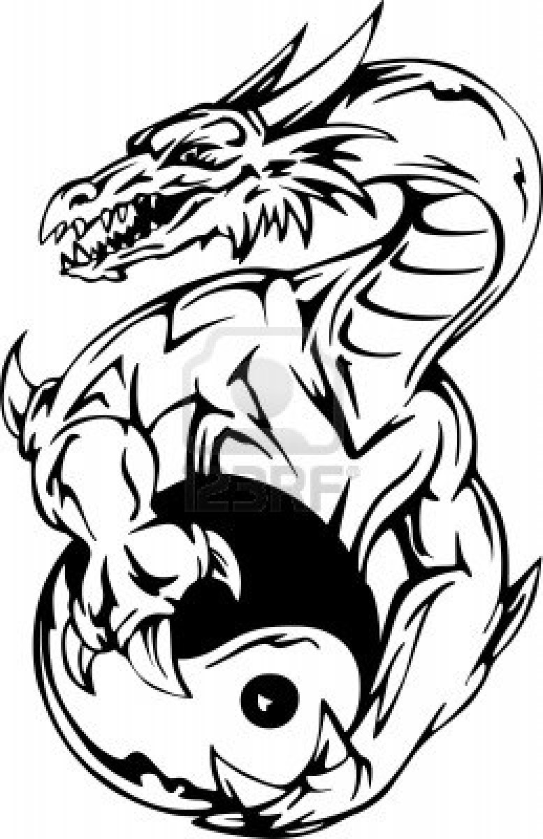 Dragon Outlines For Drawing