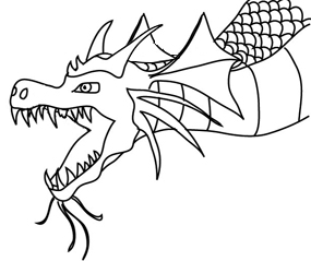 Dragon outline. Outlines for drawing free