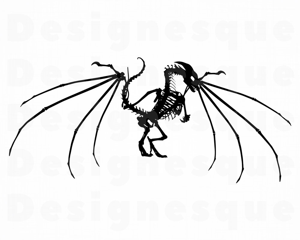 1000x800 dragon skeleton dragon dragon clipart dragon etsy