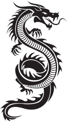 236x427 Black Tribal Dragon Tattoo Vector Illustration Dragon Tattoo